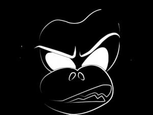 Die Abbildung zeigt das Gesicht eines Hundes, die Abbildung ist das Logo von Mixed Martial Monkeys.